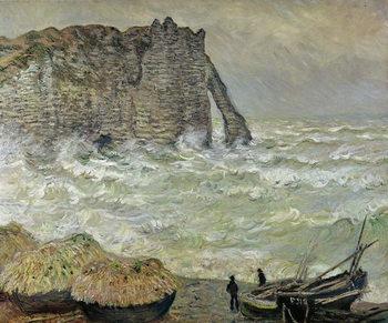 Rough Sea at Etretat, 1883 - Stampe d'arte