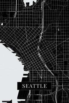 Mappa Seattle black