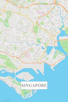 Mappa di Singapore color