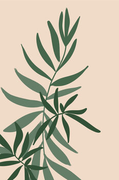 Illustrazione Solid greenery in green