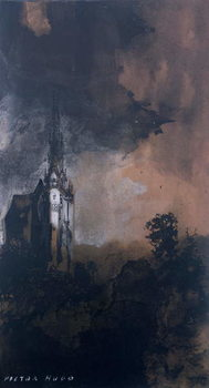 The Castle in the Moonlight - Stampe d'arte