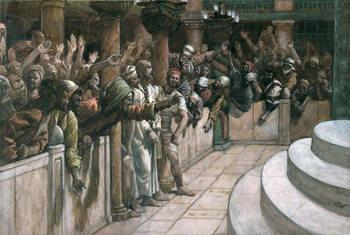 The False Witness, illustration for 'The Life of Christ', c.1884-96 - Stampe d'arte
