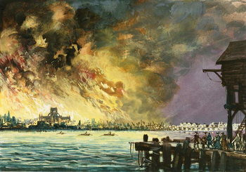 The great fire of London - Stampe d'arte