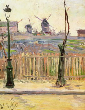 The Windmills at Montmartre, 1884 - Stampe d'arte