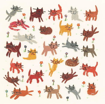 Tiny kittens, 2010,collage - Stampe d'arte