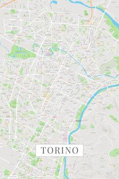 Mappa di Torino color