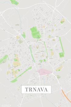 Mappa di Trnava color