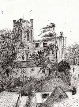 View from St Catherines school Ventnor I.O.W., 2011, - Stampe d'arte