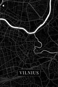Mappa di Vilnius black