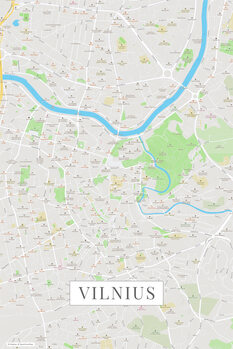 Mappa di Vilnius color