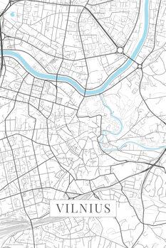 Mappa di Vilnius white