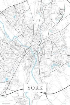 Mappa di York white