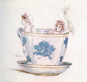 'A calm in a  tea-cup' by Kate Greenaway - Stampe d'arte