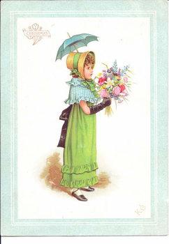 A Victorian greeting card of children in fancy costume dancing, c.1880 - Stampe d'arte