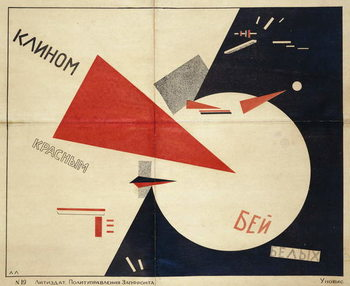 Beat the Whites with the Red Wedge (The Red Wedge Poster), 1919 - Stampe d'arte