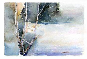Birch in Winter, 2015, - Stampe d'arte