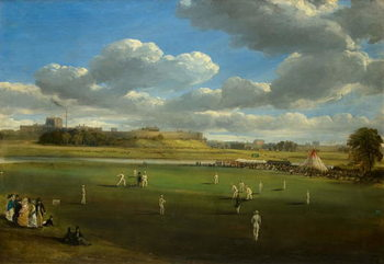 Cricket Match at Edenside, Carlisle, c.1844 - Stampe d'arte