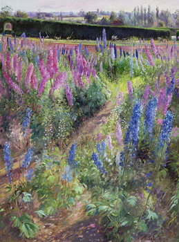 Delphiniums and Hoers, 1991 - Stampe d'arte