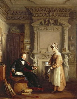 John Sheepshanks and his maid - Stampe d'arte