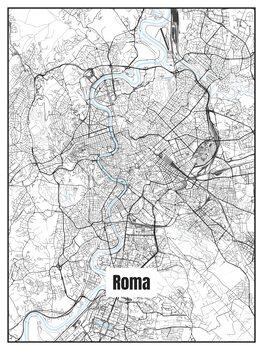 Illustrazione Map of Roma