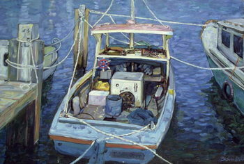 Old Fishing Launch at the Wharf, 1988 - Stampe d'arte
