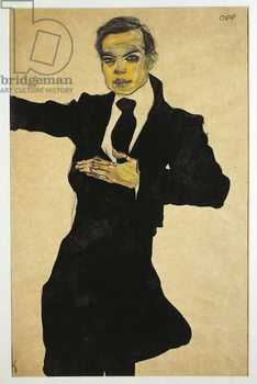 Portrait of Max Oppenheimer , 1910 mixed media - Stampe d'arte