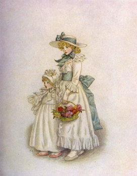 'Sisters' by Kate Greenaway - Stampe d'arte