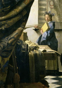 The Artist's Studio, c.1665-6 (oil on canvas) - Stampe d'arte