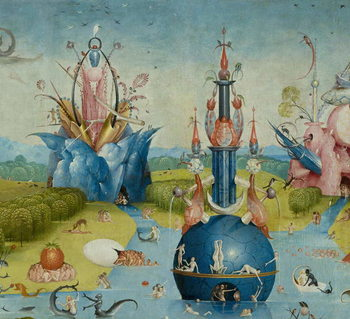 The Garden of Earthly Delights, 1490-1500 - Stampe d'arte