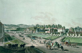 View of the Augarten Palace and Park, Vienna - Stampe d'arte