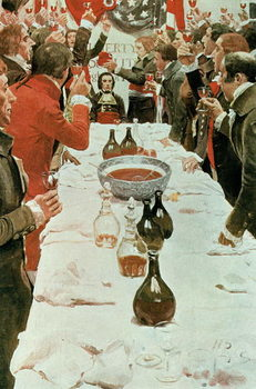 A Banquet to Genet, illustration from 'Washington and the French Craze of '93' by John Bach McMaster, pub. in Harper's Magazine, 1897 Reproducere