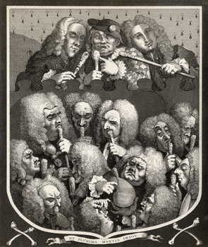 A Consultation of Physicians, or The Company of Undertakers, from 'The Works of William Hogarth', published 1833 Reproducere