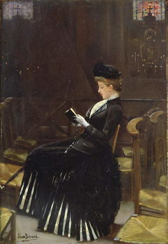 A Woman at Prayer, c.1889 Reproducere