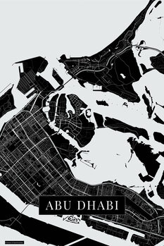 Harta orașului Abu Dhabi black