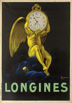 Advertising poster for the Swiss watchmakers Longines, 1922 Reproducere