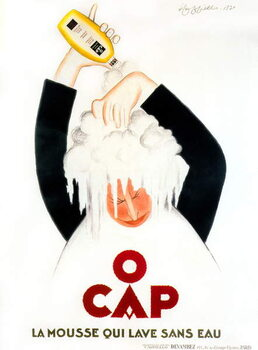 Advertisment by Leonetto Cappiello for O'Cap shampoo 1930 Reproducere