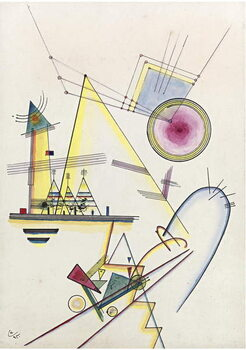 """""Ame delicate"""" (Delicate soul) Peinture de Vassily Kandinsky  1925 Collection privee Reproducere"