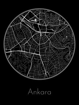 Harta orașului Ankara