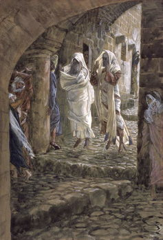 Apparitions of the Dead in the Streets of Jerusalem, illustration for 'The Life of Christ', c.1886-94 Reproducere