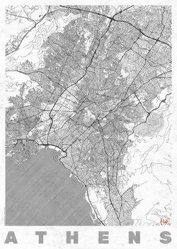 Harta orașului Athens