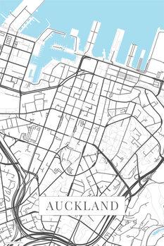 Harta orașului Auckland white