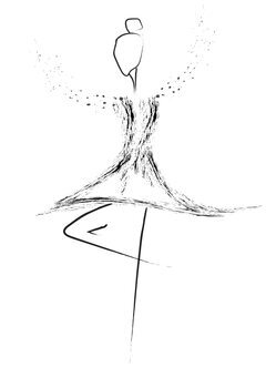 Ilustrare Balerina