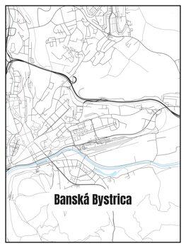 Harta orașului Banská Bystrica