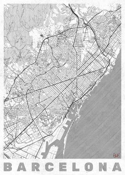 Harta orașului Barcelona