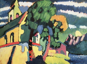 Bavarian Landscape with a Church Reproducere