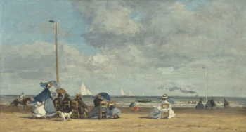 Beach at Trouville, 1864-5 Reproducere