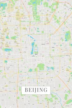 Harta orașului Beijing color