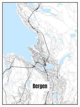Harta orașului Bergen