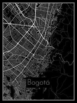 Harta orașului Bogotá