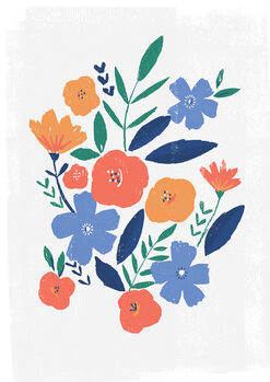Ilustrare Bold floral